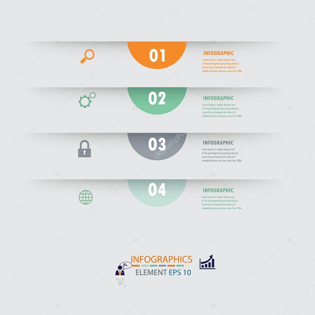 Plantilla de diseño de illustrator de moderno diseño infografía ...