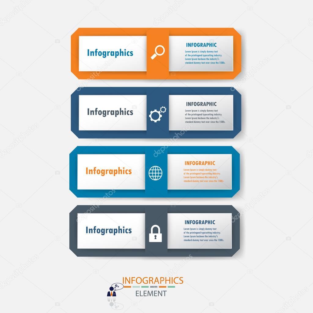 Infographic label design element.vector illustrator design template ...