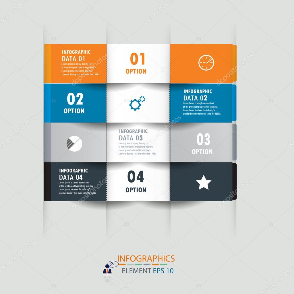 Plantilla de diseño de infografía etiqueta diseño element.vector ...