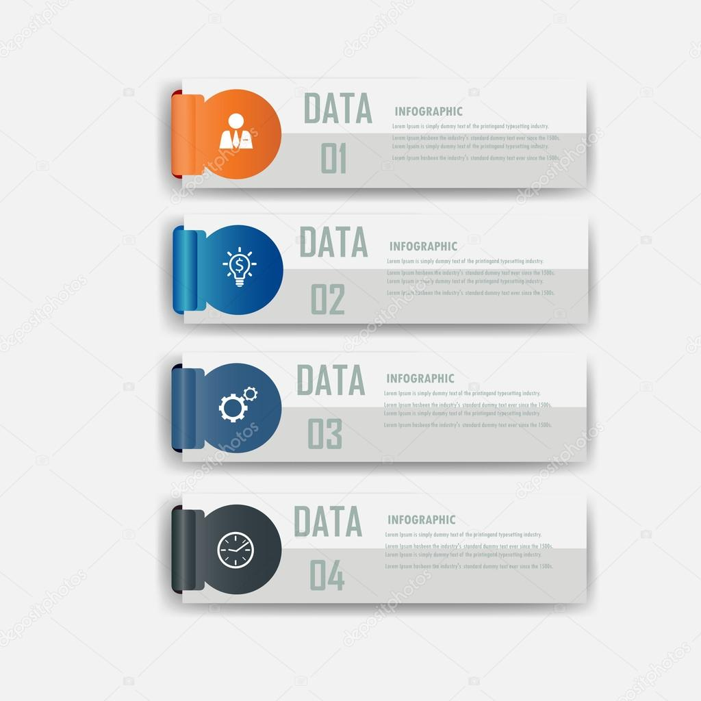 Infographic design element label.vector illustrator design template.