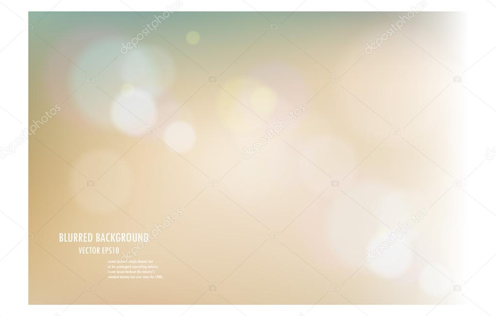 vector illustration of soft colored abstract blurred light backg