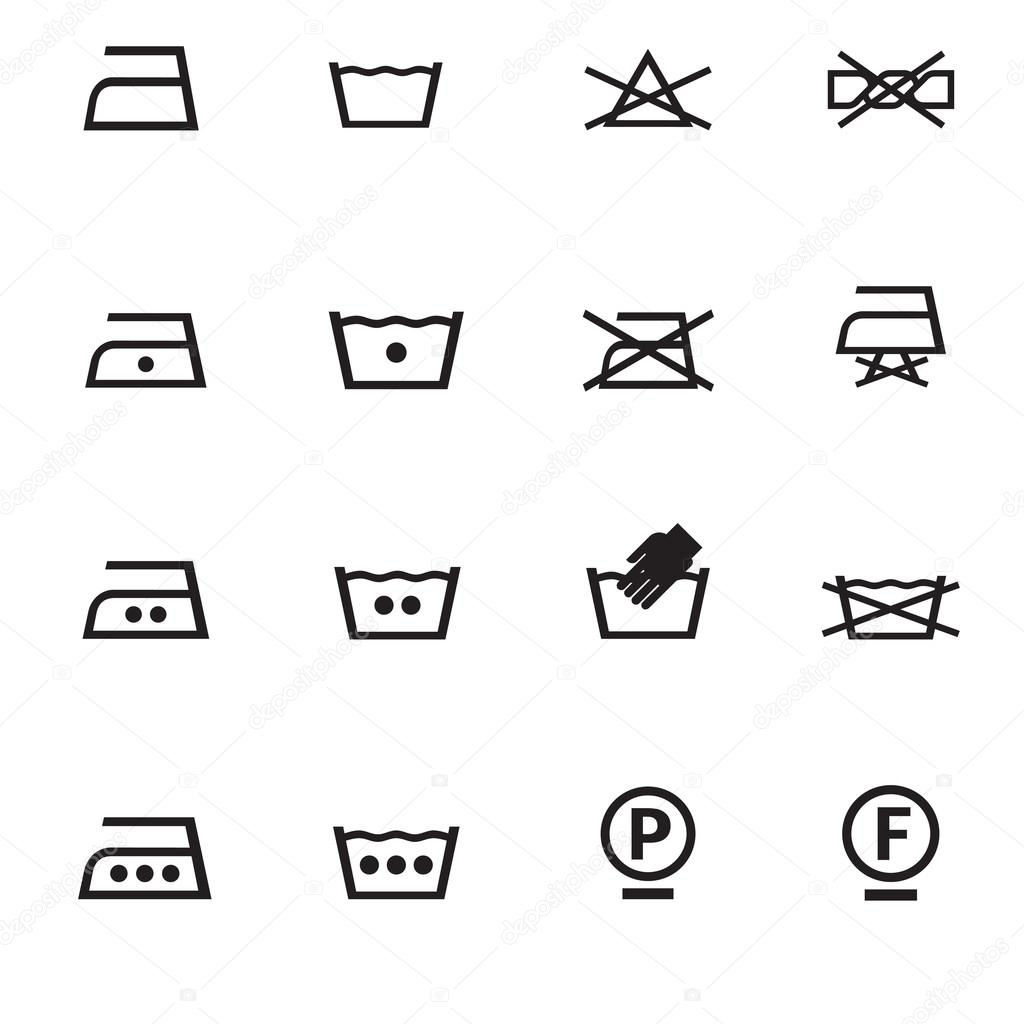 Set of washing symbols stock vector hopewell 70569947 set of washing symbols stock vector biocorpaavc Image collections