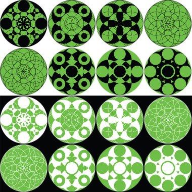 Decorative circular patterns