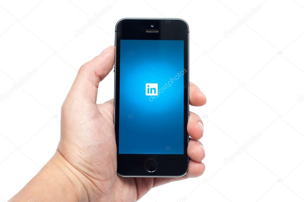 IPhone 5s with Linked In app