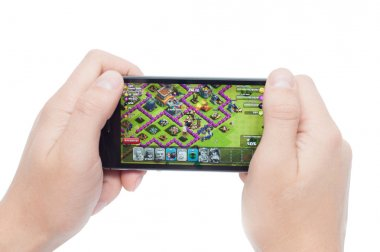 Pavlograd, Ukraine - October 31, 2014: Clash of Clans is a popul