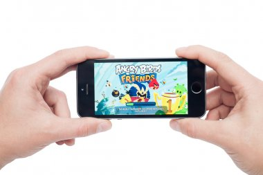IPhone 5s with  Angry Birds Friends app