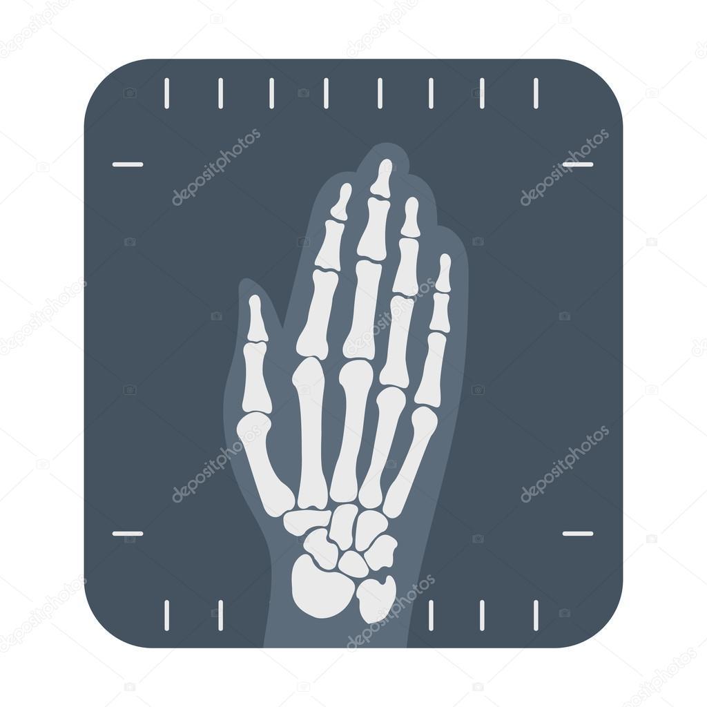 xray hand icon cartoon single medicine icon from the big