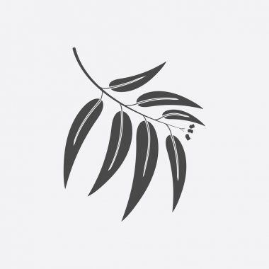 Eucalyptus icon black simple. Singe nature icon from the big forest plant set.