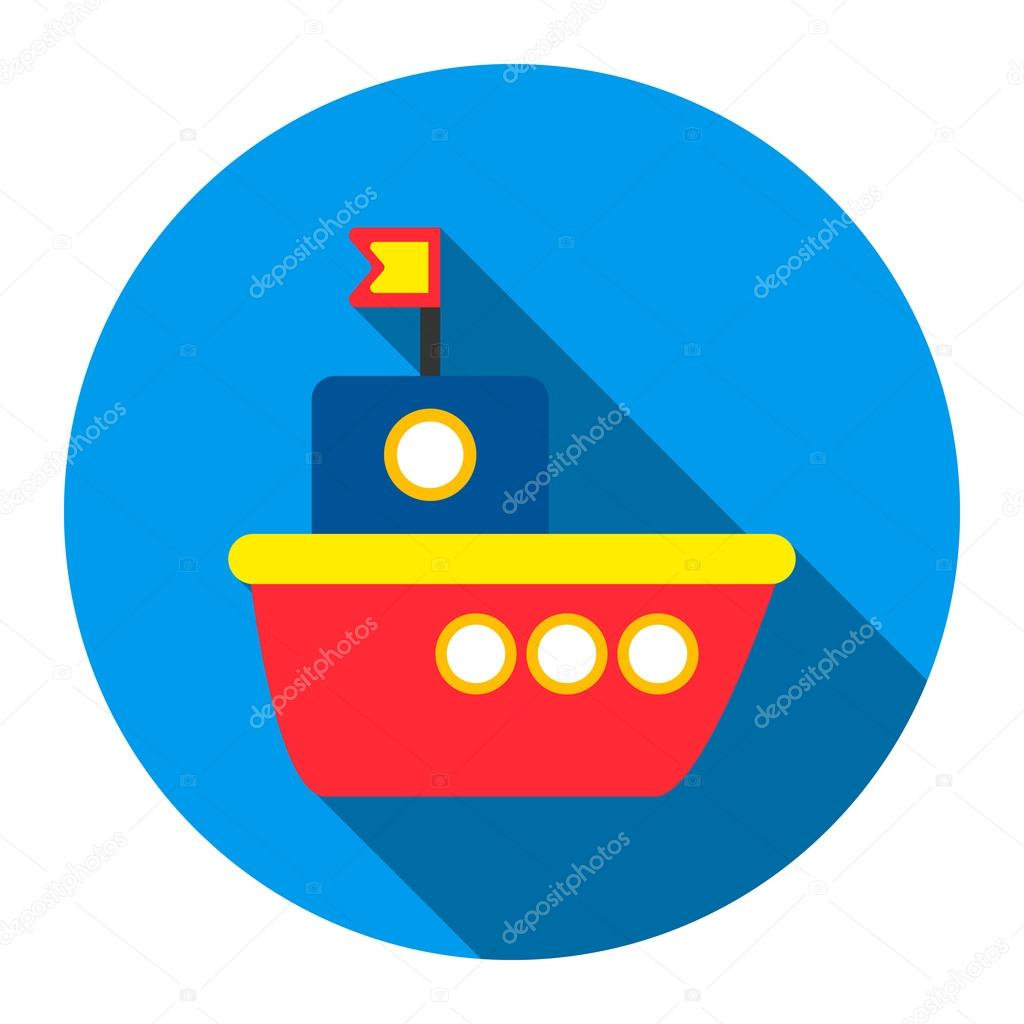 ship toy icon flat style one icon of a large toys collection