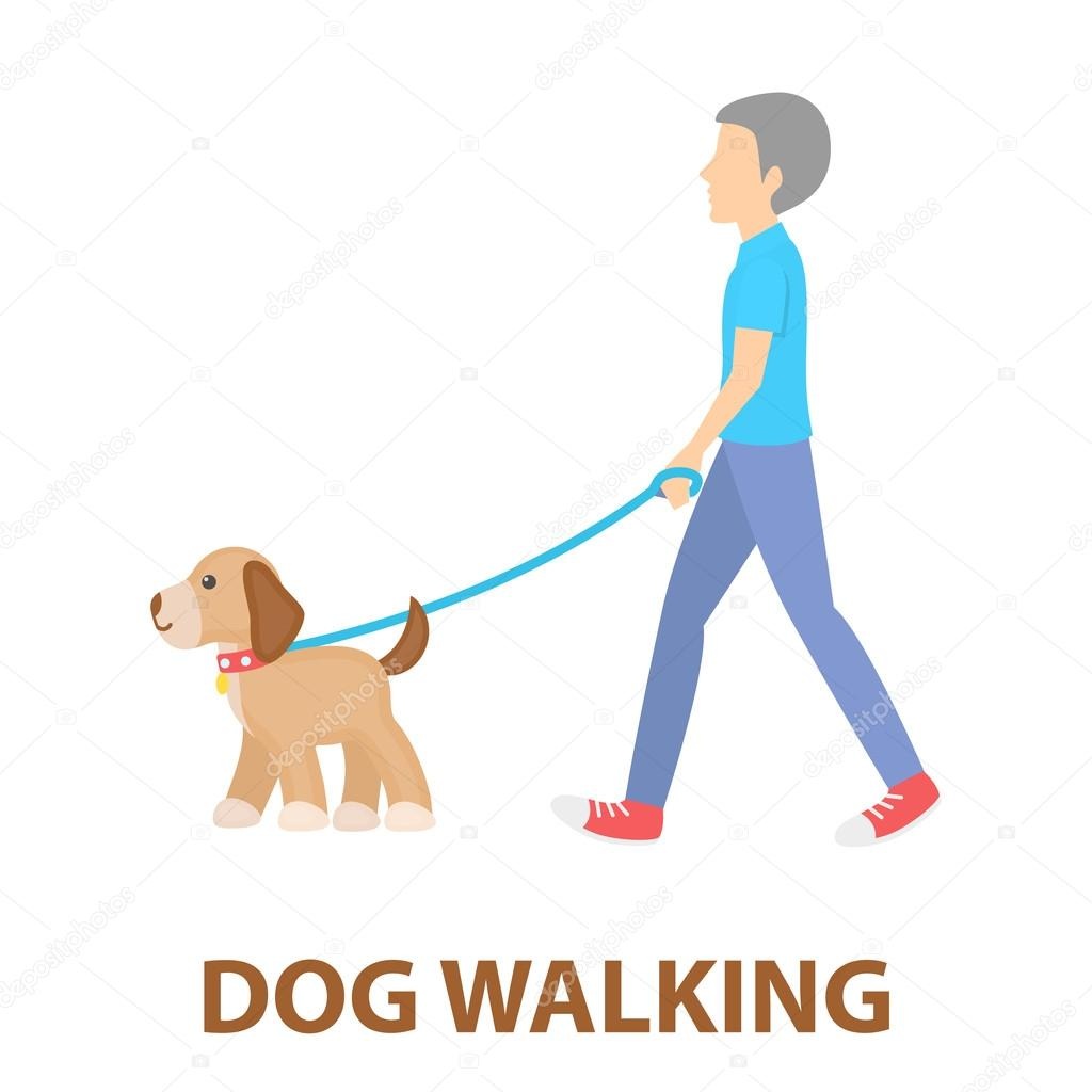 dog walk vector icon in cartoon style for web stock vector c pandavector 120889586 https depositphotos com 120889586 stock illustration dog walk vector icon in html