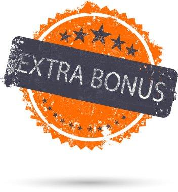 vector illustration of grunge icon extra bonus