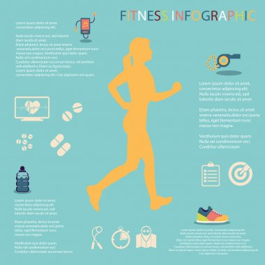 illustration of healthy lifestyle infographic in flat design