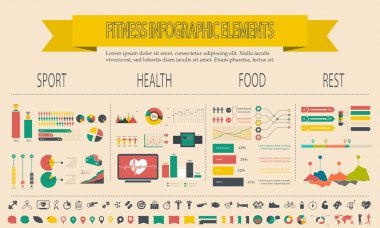 illustration of healthy lifestyle infographic