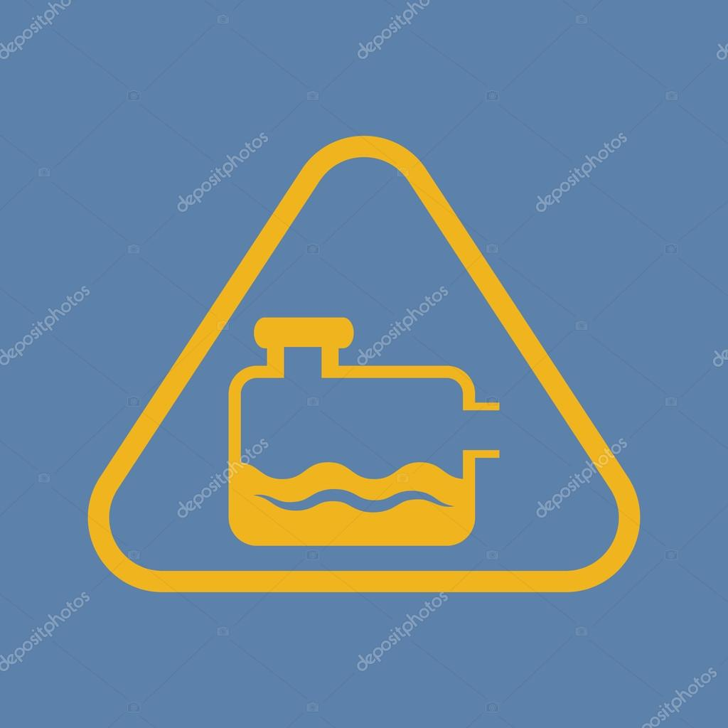 Gas bottle icon - Vector