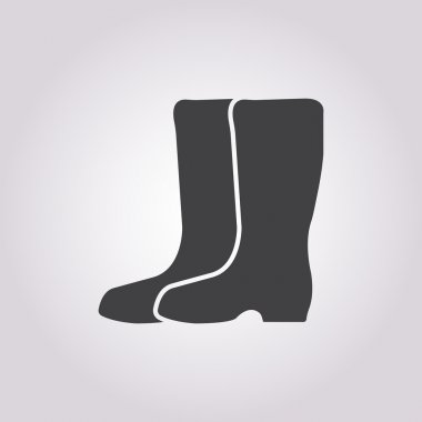 gumboots icon on white background