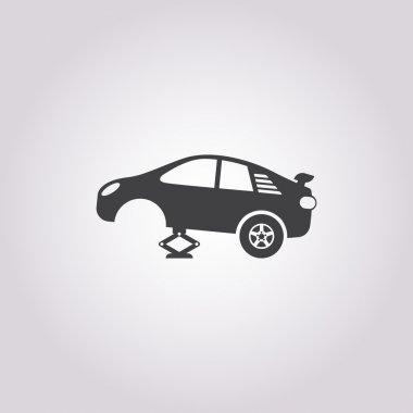 tire car jack icon on white background