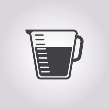 glass measuring icon on white background