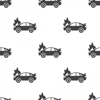 car fire icon on white background