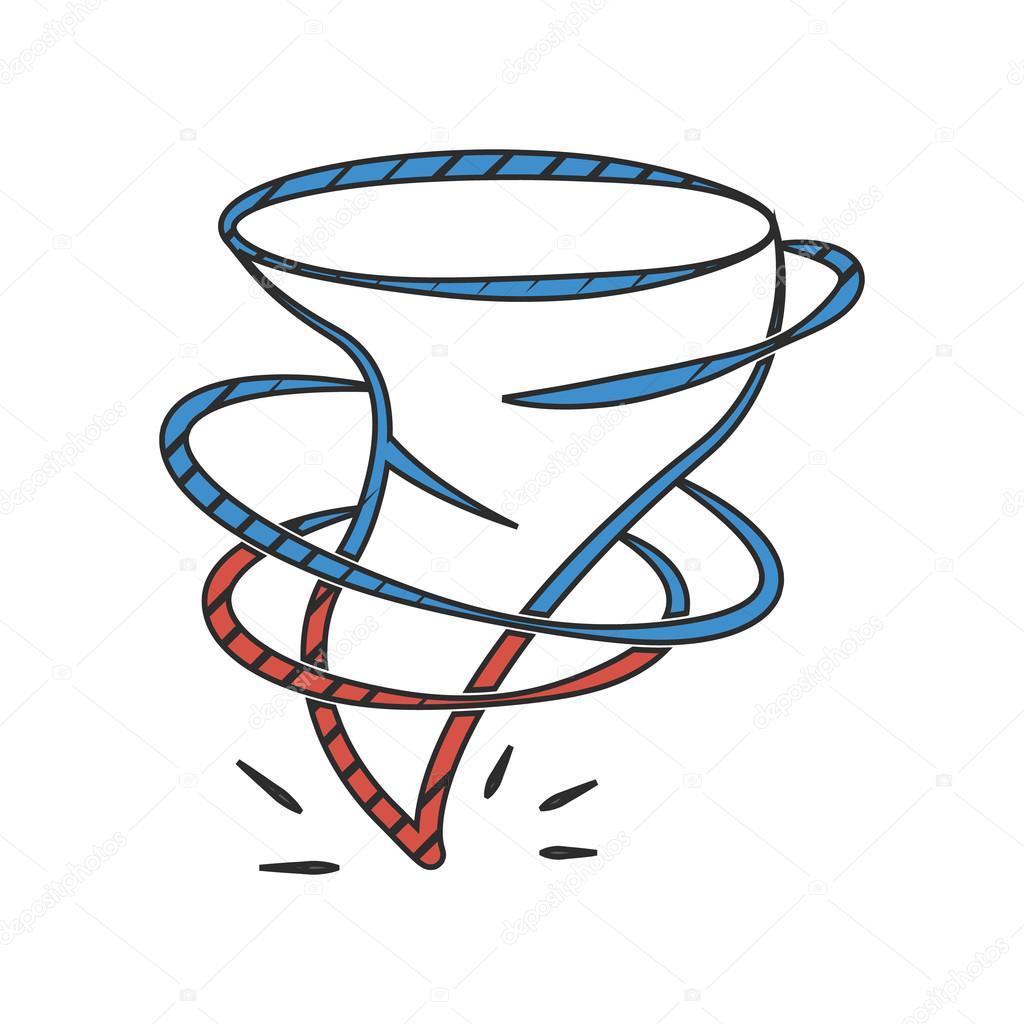 Imágenes Huracan Para Colorear Icono De Huracán Sobre Fondo