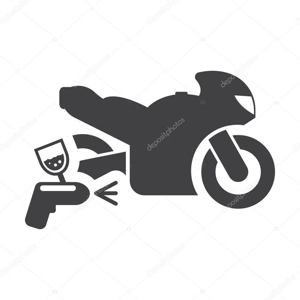 motorcycle paint black simple icon on white background for web ...