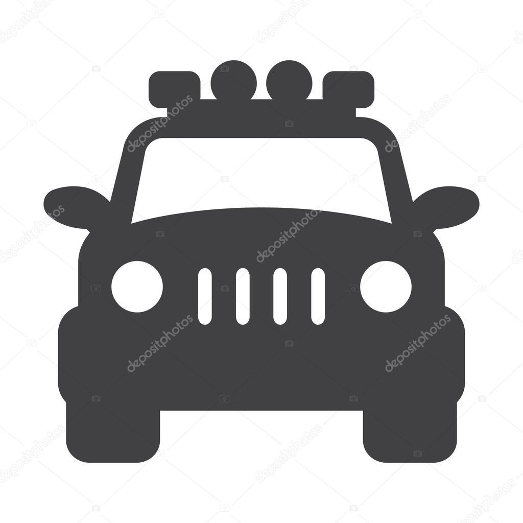 Jeep Schwarz Einfache Symbol Auf Weißem Hintergrund Für Web