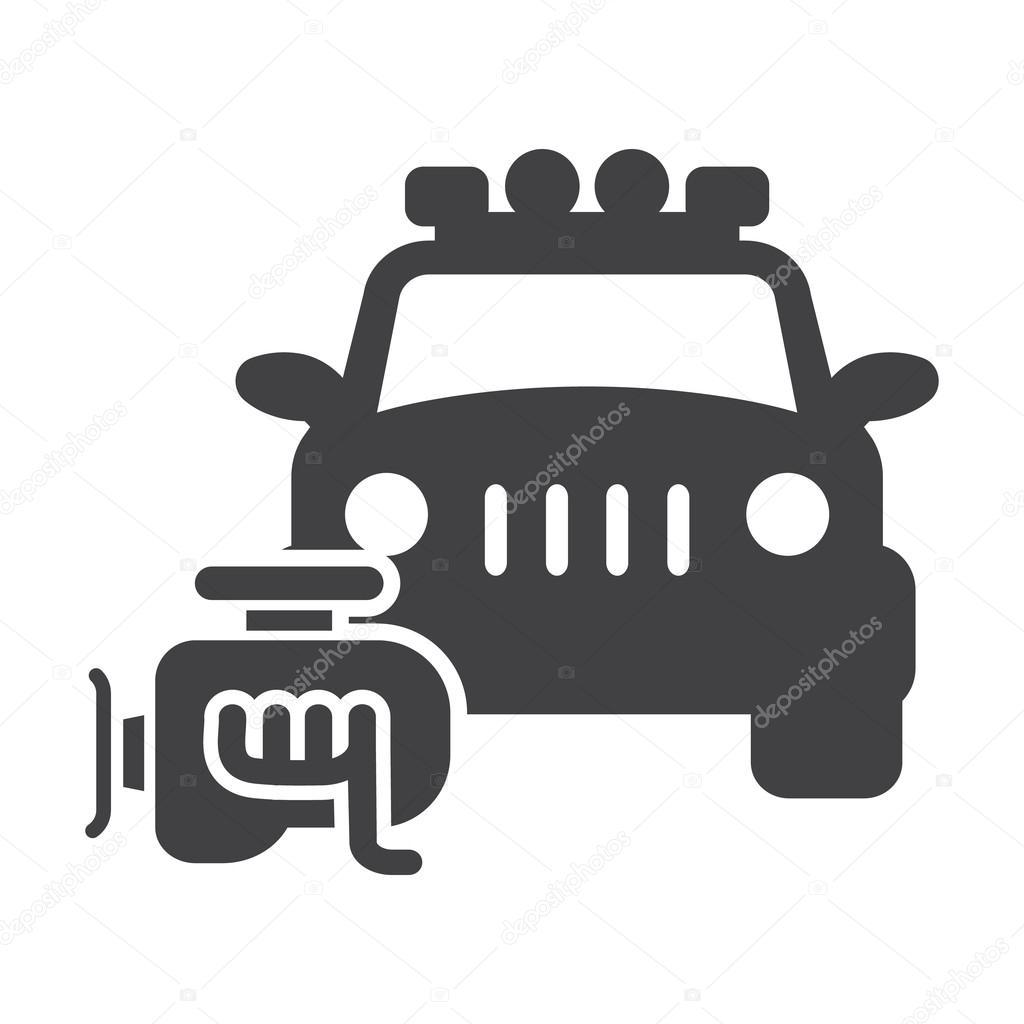 Auto-Motor schwarz einfache Symbol auf weißem Hintergrund für web ...
