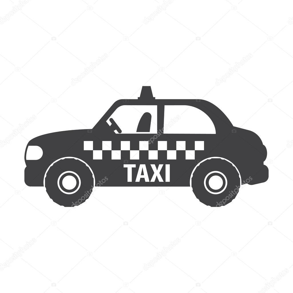 Icone semplici di taxi car nero su fondo bianco per il web for Semplici 2 piani di garage per auto
