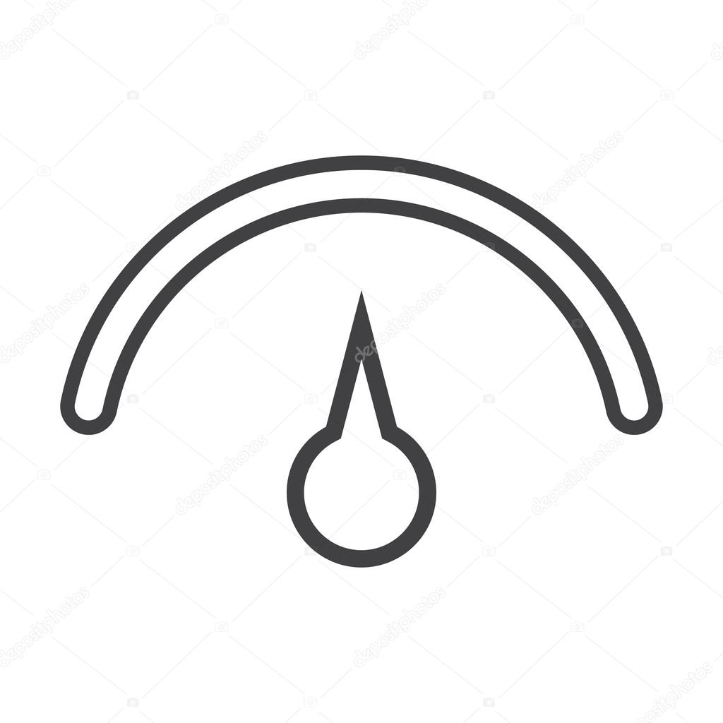 einfache Symbole Tacho schwarz set für web — Stockvektor ...