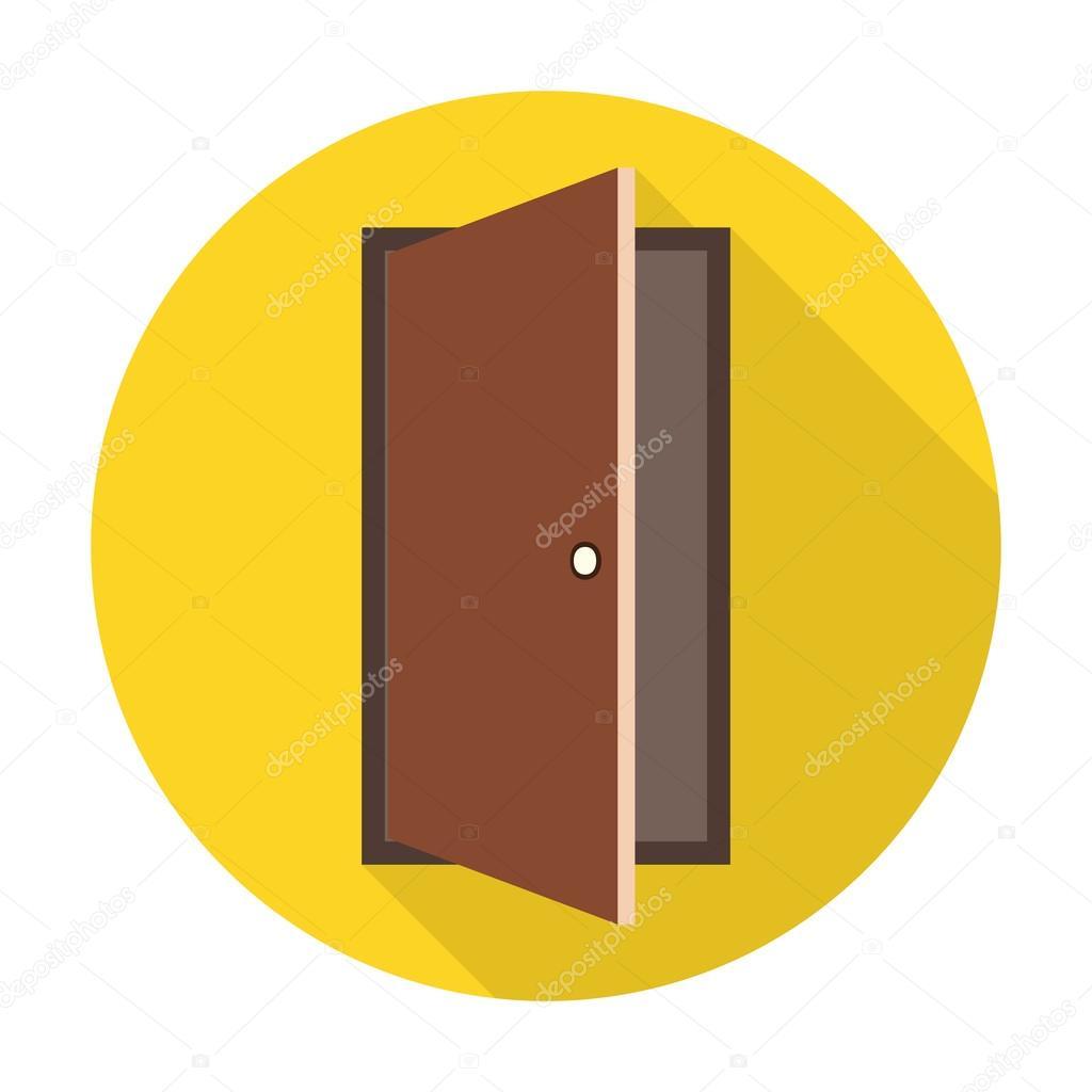 Door flat icon with long shadow for web design u2014 Vector by PandaVector  sc 1 st  Depositphotos & Door flat icon with long shadow for web u2014 Stock Vector © PandaVector ...