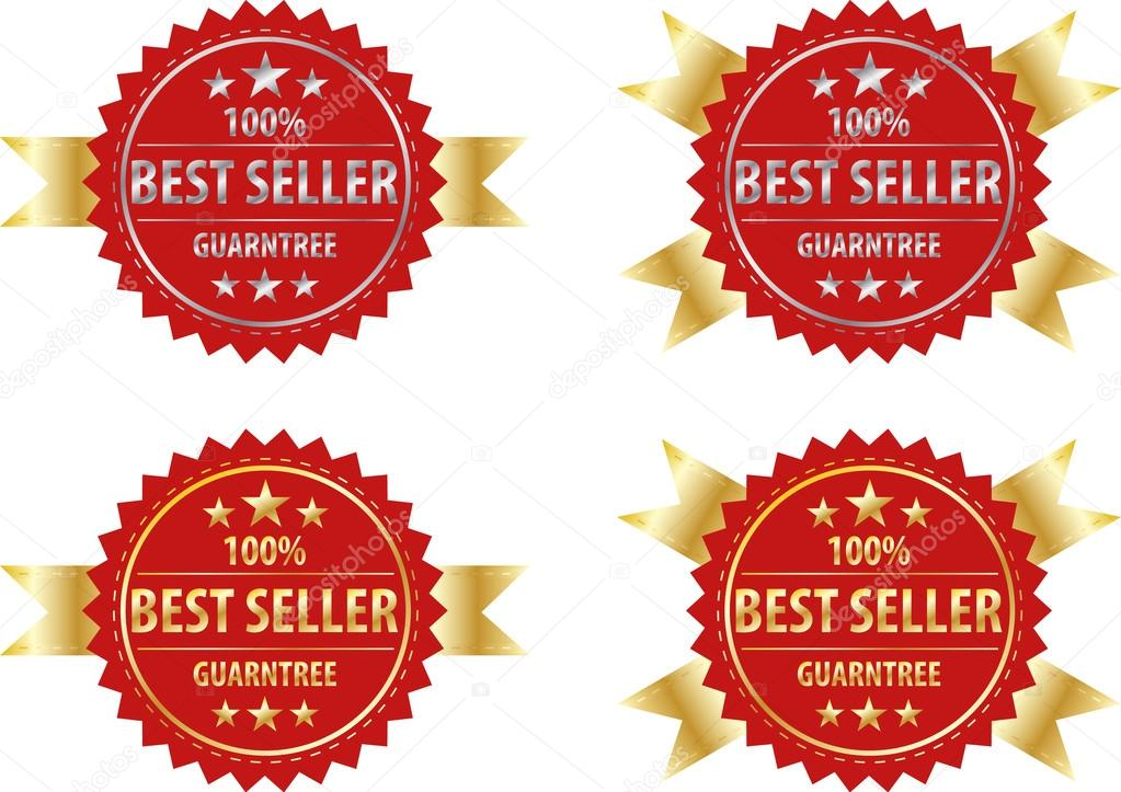 besten Verkäufer gold Zeichen und silbernen Schild, Etikett Vorlage ...