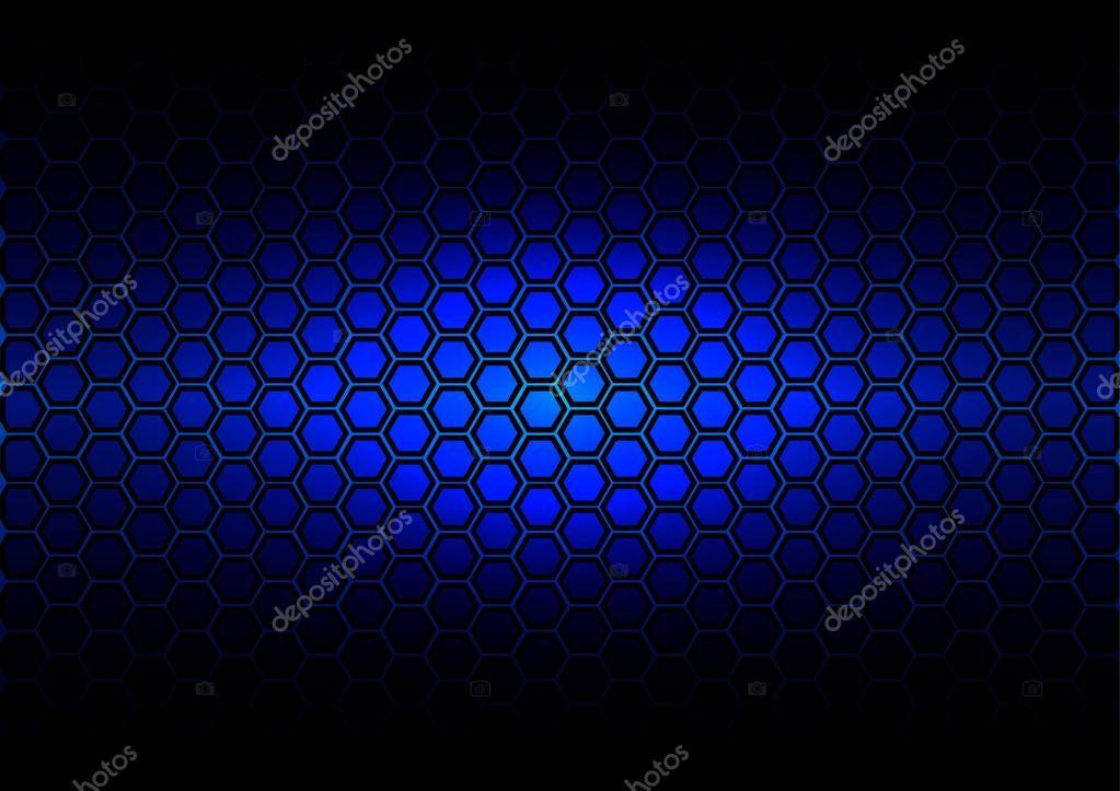 Hexágono de padrão abstrato sobre fundo de cor azul escuro — Vetores de  Stock 6d208e16953ba