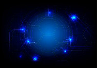 Abstract circuit Technology background . Vector illustration