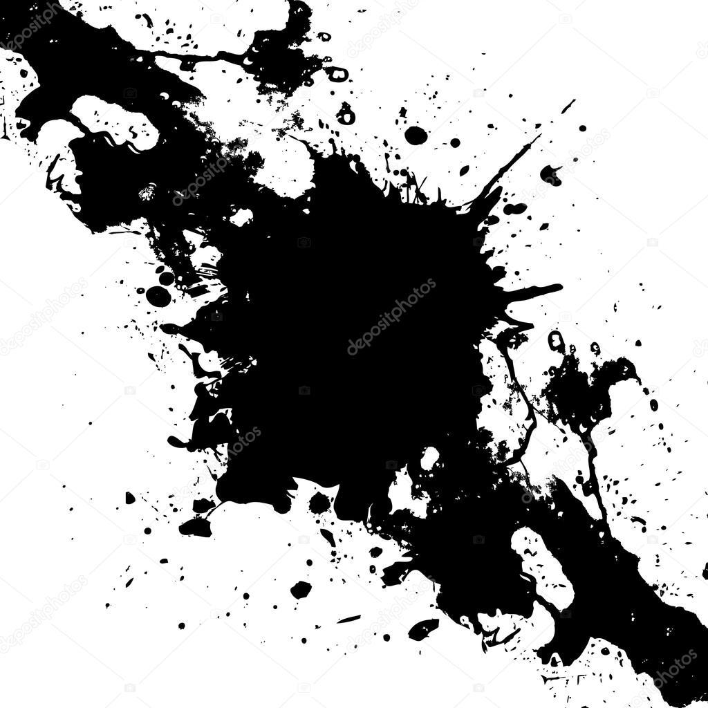 Paint Brush Splatter Vector