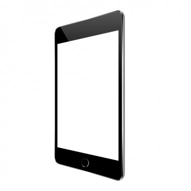 mock up black tablet perspective angle isolated on white vector design