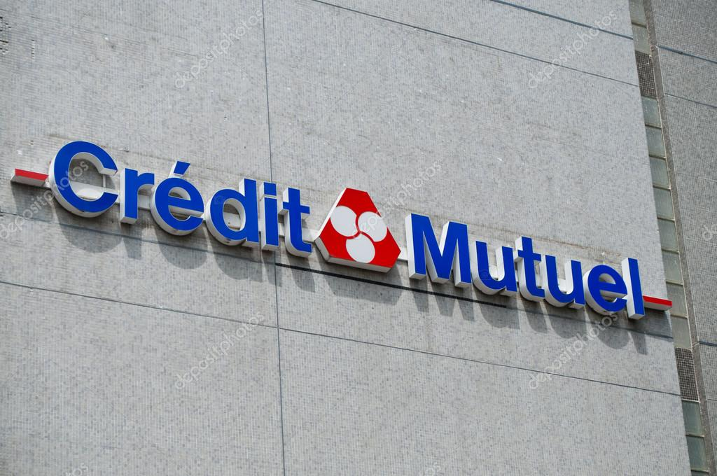 Credit Mutuel French Bank Signage Stock Editorial Photo