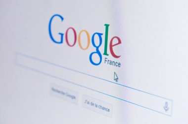 PARIS - France  - 17 February 2015 - google page of search on sreen
