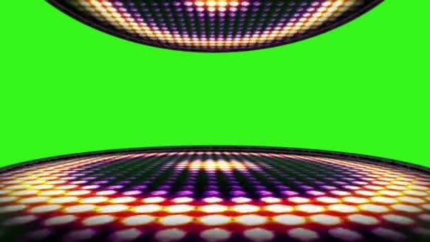 Circle Bulb Lights Room Background with Green Screen, Loop, 4k