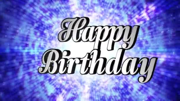 Happy Birthday Animation Text And Disco Dance Background Zoom IN OUT Rotation With Alpha Channel Loop 4k Stock Footage