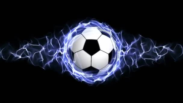 Soccer Ball in Blue Abstract Particles Ring, Loop, 4k