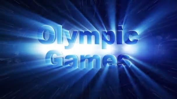 Olympische spelen tekstanimatie licht stralen explosie loop k