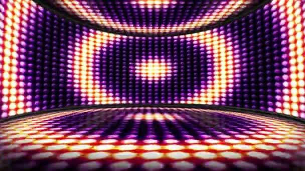 Kruhu žárovka světla místnosti zázemí, Loop, 4k