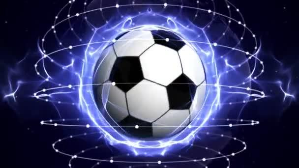 Futball labda animáció, hurok, 4k