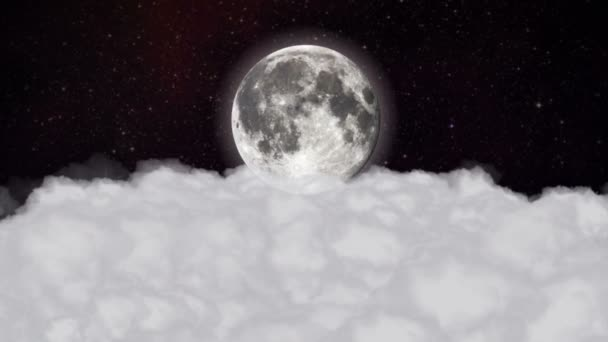 Clouds and Moon Background, Loop, 4k
