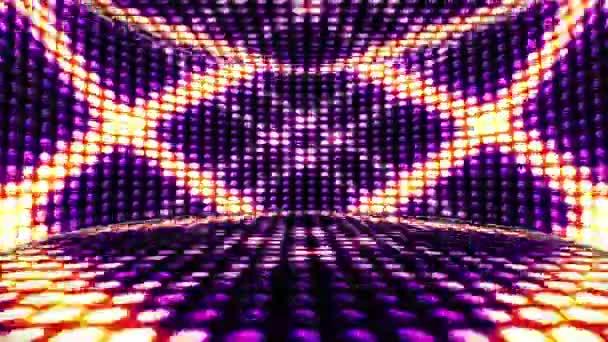 Izzó fények szoba háttér, hurok, 4k csillagok