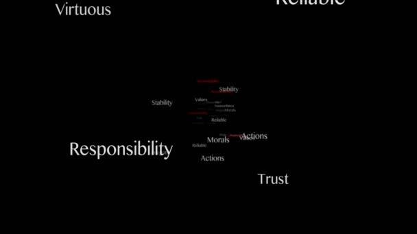 ACCOUNTABILITY Keywords Animation, Background, Loop, 4k