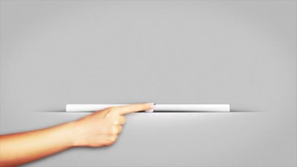 Bílé stránky a papíru řezu, Loop, 4k