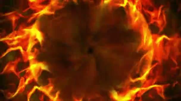 Fiery Ring, Flames Background, Loop, 4k