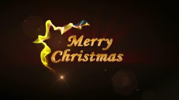Frohe Weihnachten Gold Text in Teilchen Ring, 4k