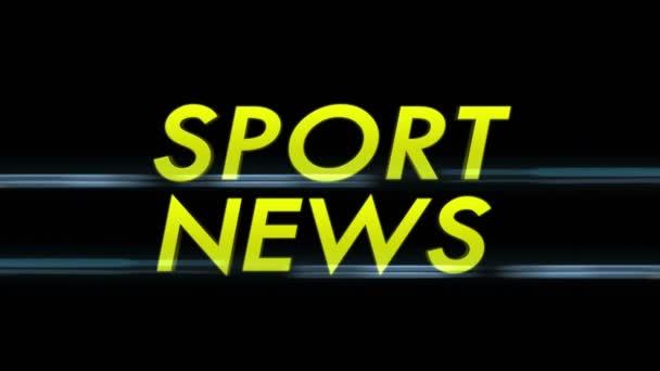 Sport Hírek szöveg alfa csatornával, hurok, 4k
