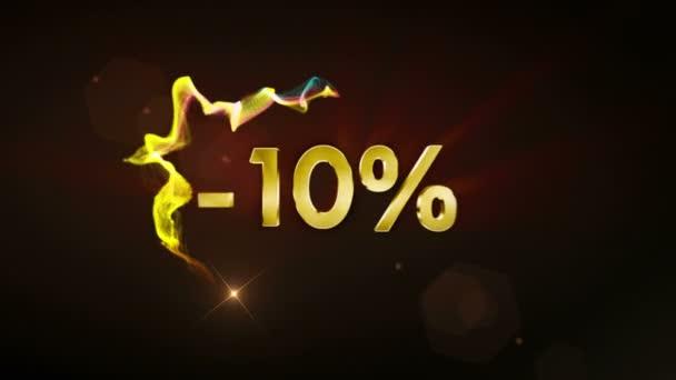-10% Discount Text Concept, 4k